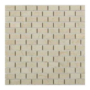 Cream Marfil Brick Pattern 1/2″x1″ Mosaic