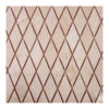 "Cream Marfil Diamond Pattern 1 1/4""x1 1/4"" Mosaic"