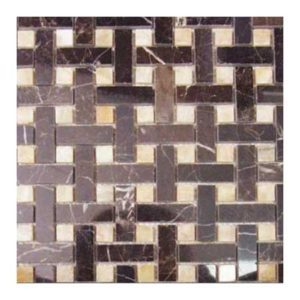 Dark Emperado & Honey Oynx Basket Weave 5/8″x2″