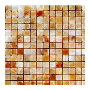 "Honey Onyx 5/8""x5/8"" Mosaic Polished"