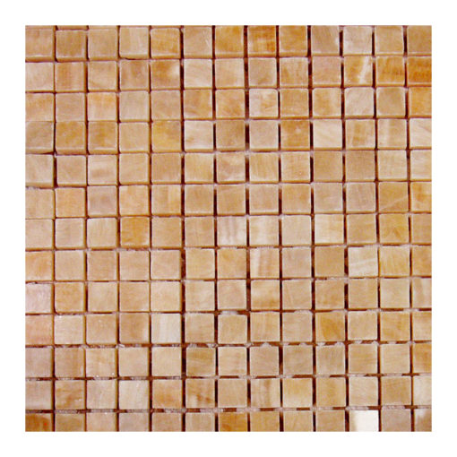 Honey Onyx 5/8″x5/8″ Mosaic Honed