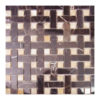 Nero Gold+Honey Onyx Basket Weave 1/2″x2″ Mosaic