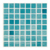 "Sky Blue 1""x1"" Glass Mosaic"