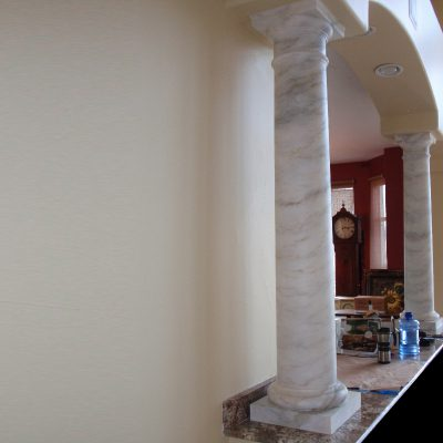 Carrara Marble Column